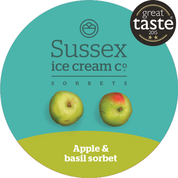 Apple and basil sorbet